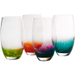 Artland Fizzy Assorted Color Highball Bar Glass, Set of 4