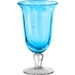 Artland Savannah Turquoise Bubble Glass Goblet, 14 Ounce
