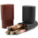 Andre Garcia Triomphe Collection Florence Black Italian Leather Cedar-Lined Telescopic 8 Finger Cigar Case with Removable Divider