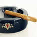 Ashton Navy Ceramic La Aroma De Cuba Cigar Ashtray