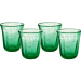 Artland Savannah Green Bubble Double Old Fashion Glass, Set of 4