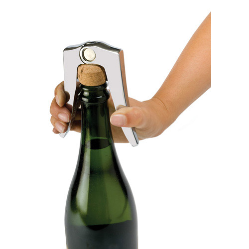 True Fabrications Chrome Zinc Alloy Champagne Cork Remover