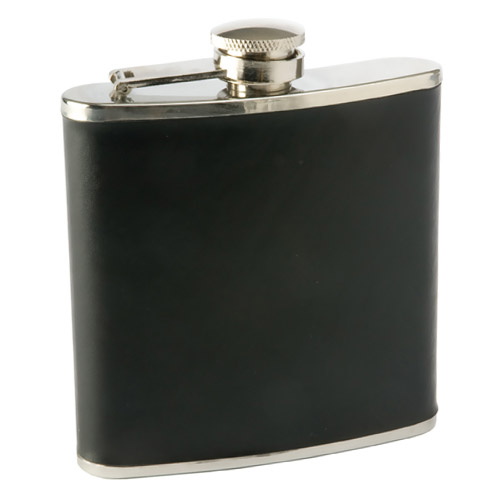 True Fabrications Black Stainless Steel Monte Carlo Flask, 6 Ounce