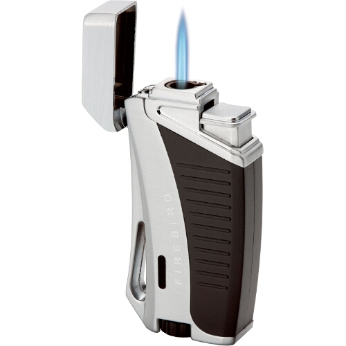 Colibri Firebird Aero Silver Butane Torch Lighter