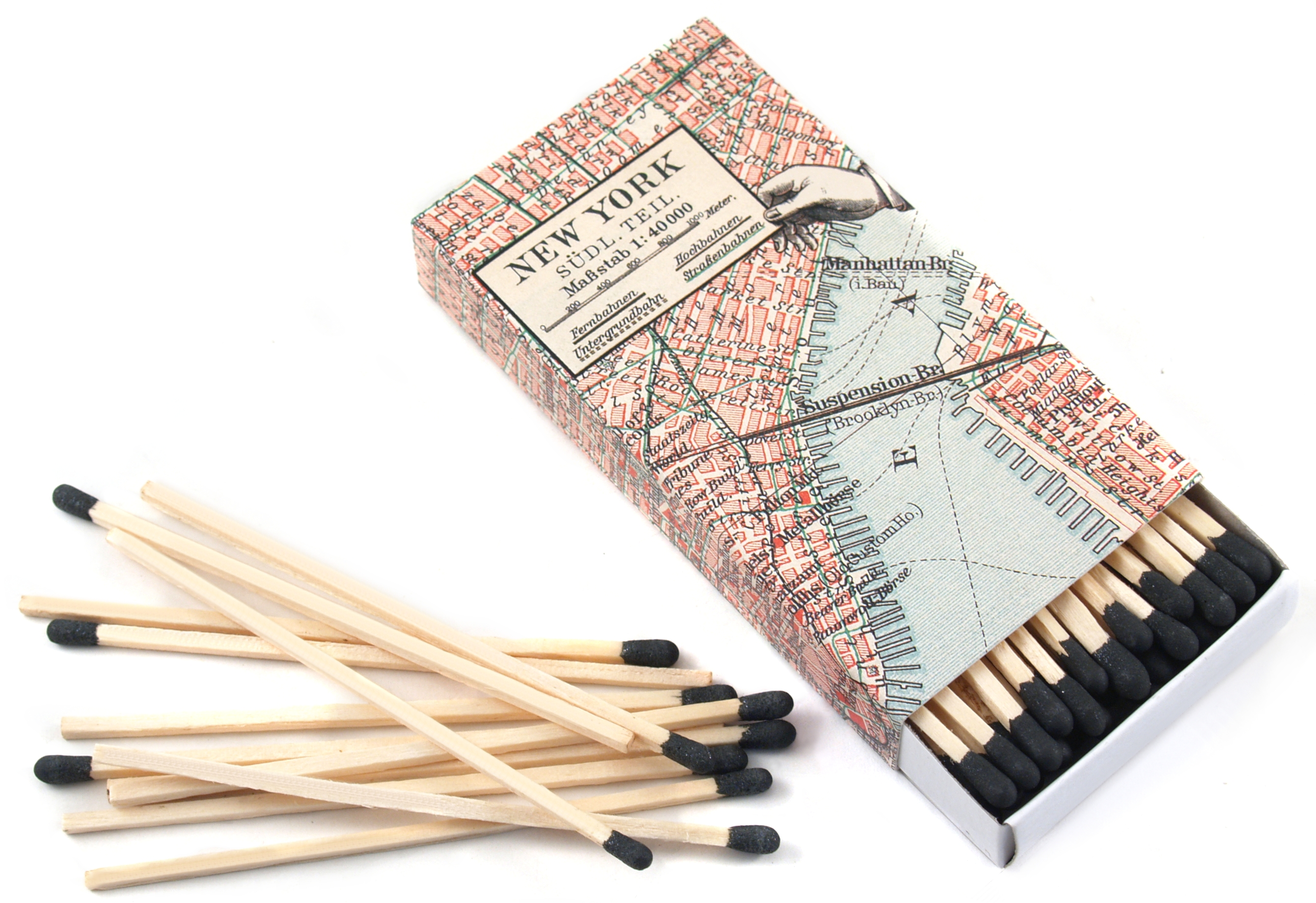 Homart Long Decorative Matches in New York City Map Box