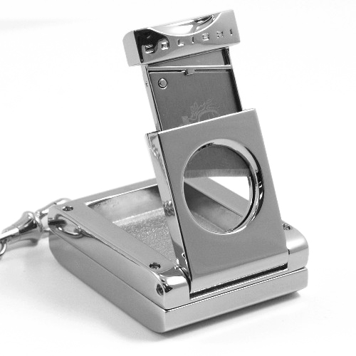 Colibri of London Silver Pocket Watch and Cigar Cutter