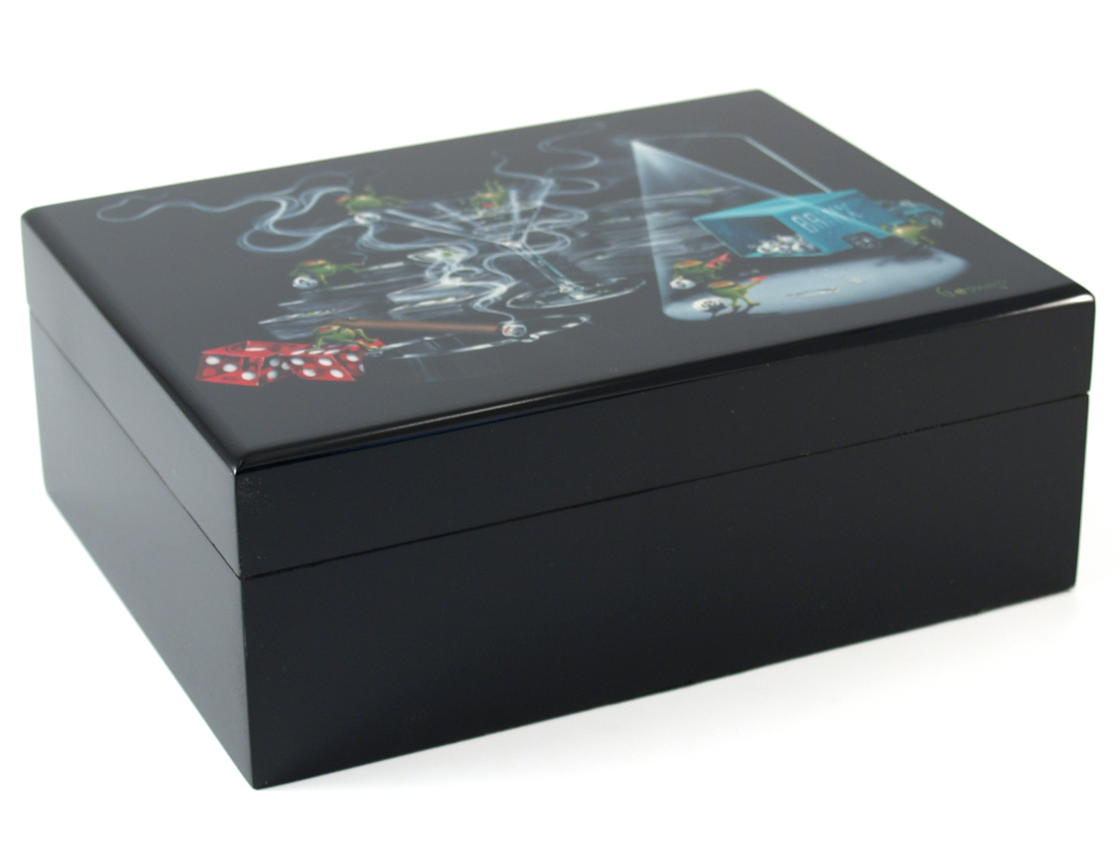 The Heist Cigar Humidor by artist Michael Godard