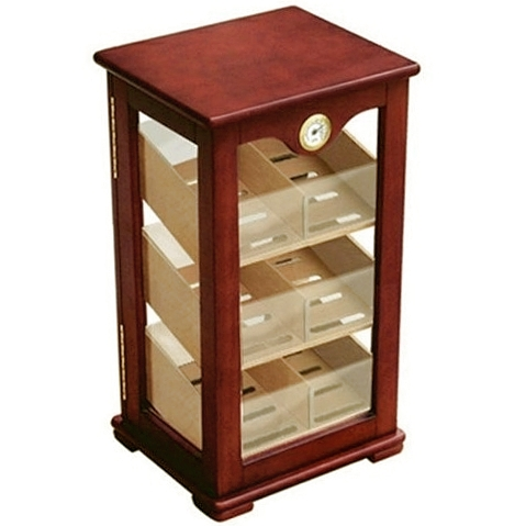 Oversized 3 Tray & 4 Window Display 200 Count Cigar Humidor