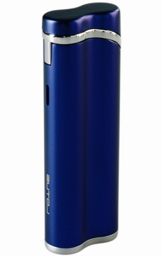 Lotus L3 Rogue Torch Flame Lighter Blue Silk / Polished Chrome