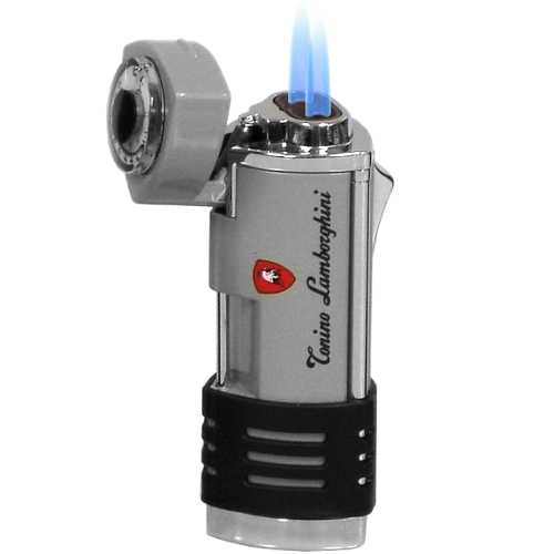 Lamborghini Double Torch Lighter Silver and Stainless