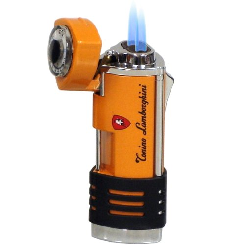Lamborghini Double Torch Lighter Orange and Stainless