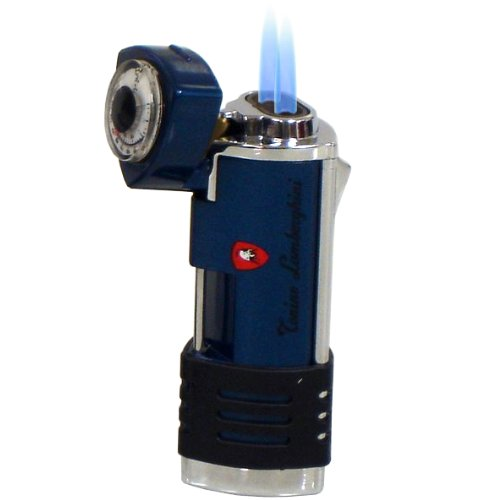 Lamborghini Double Torch Lighter Blue and Stainless