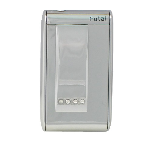 Jet Torch Lighter Chrome with Encrusted Faux Diamonds