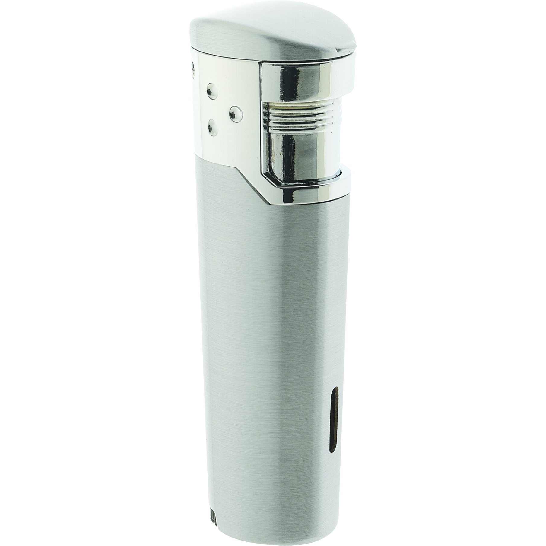 Vector Prime Double Torch Lighter Chrome Satin