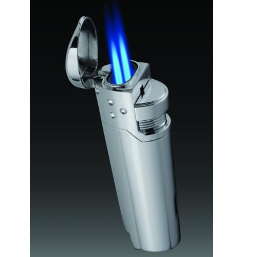 Vector Prime Double Torch Lighter Hi-Polish Chrome