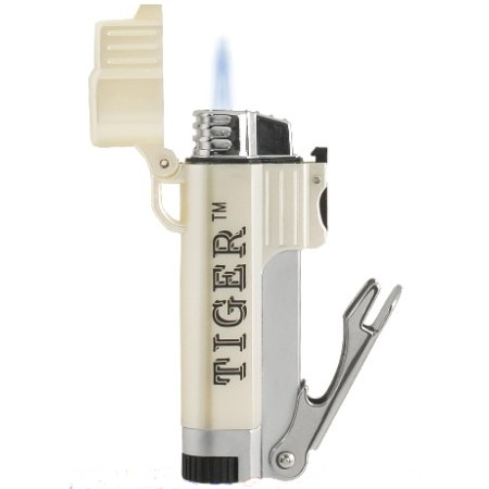 Tiger Tailgater Pearlized Single Torch Lighter with Bottle Opener