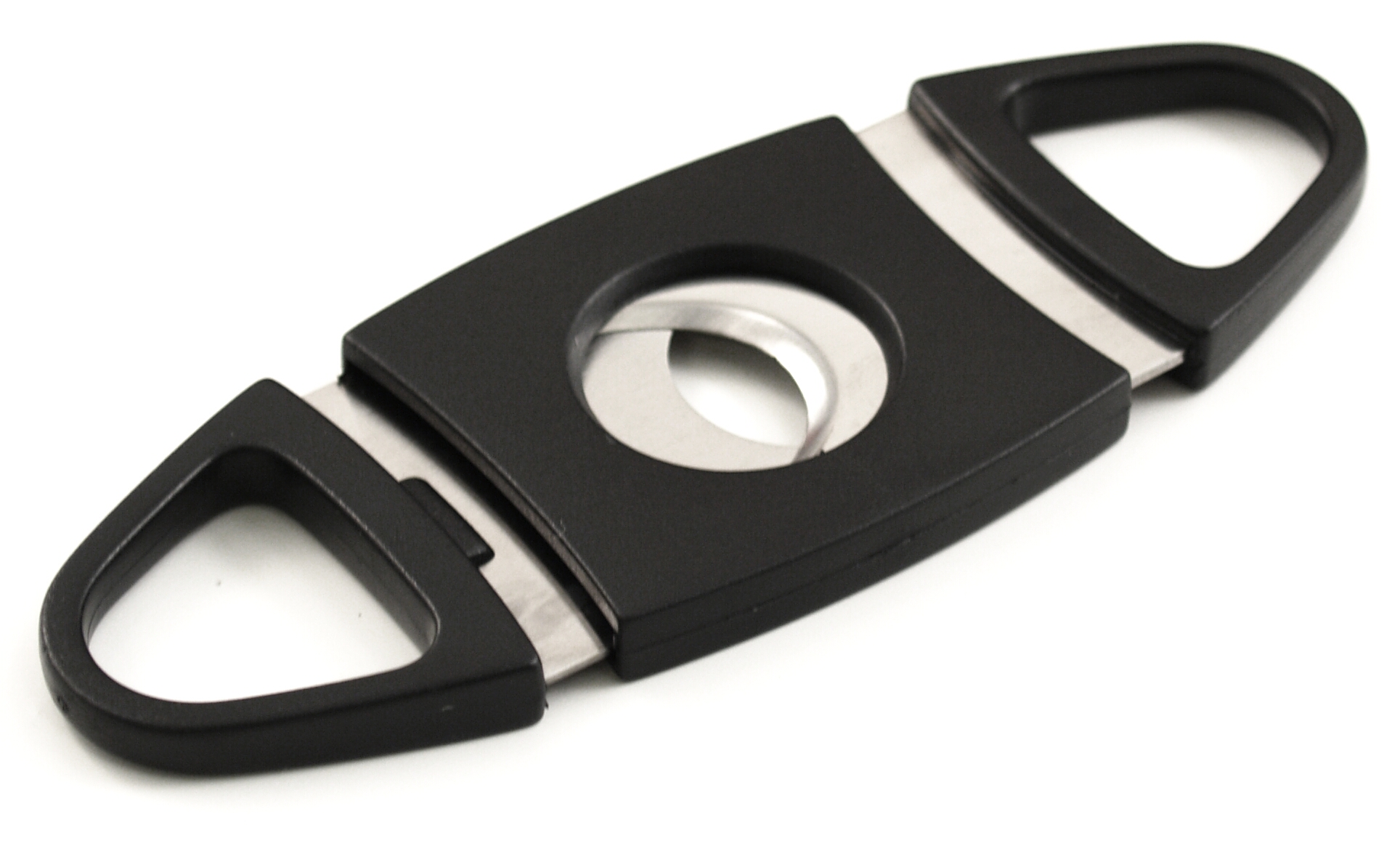 Stainless Steel Black Double Bladed Cigar Cutter