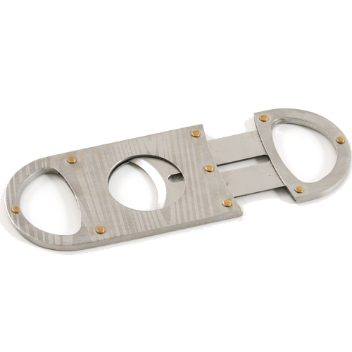 Nibo Stainless Steel Single Blade Wood Grain Look Cigar Cutter