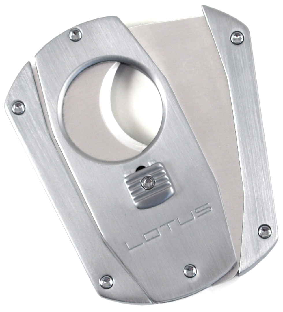 Lotus Satin Silver Cigar Cutter