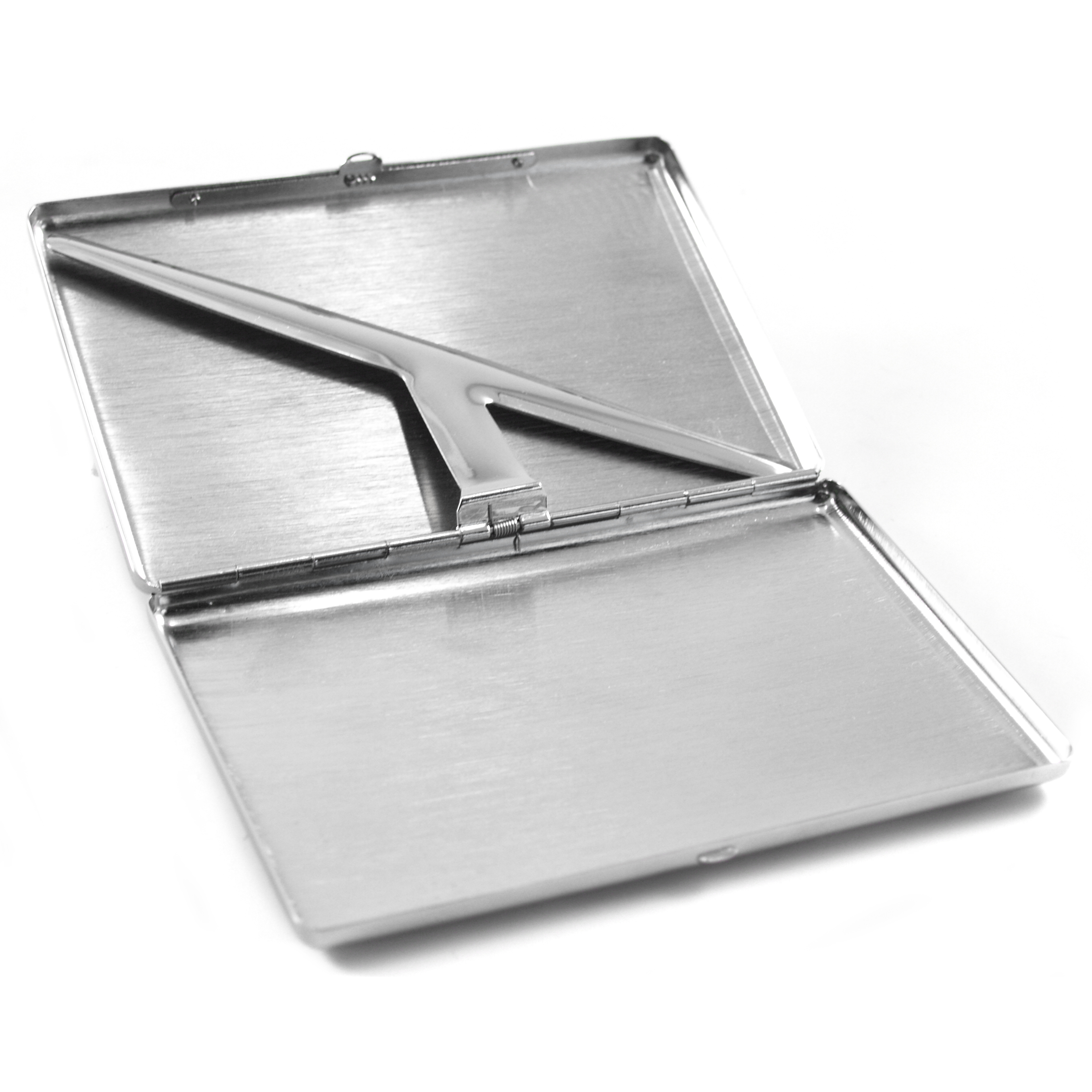 Etched Waves Stainless Steel Cigarette Case
