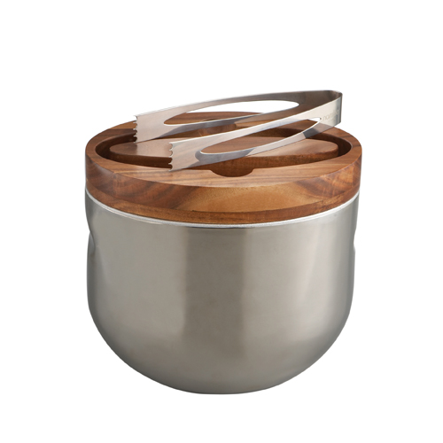 Nambe Mikko Wooden Ice Bucket