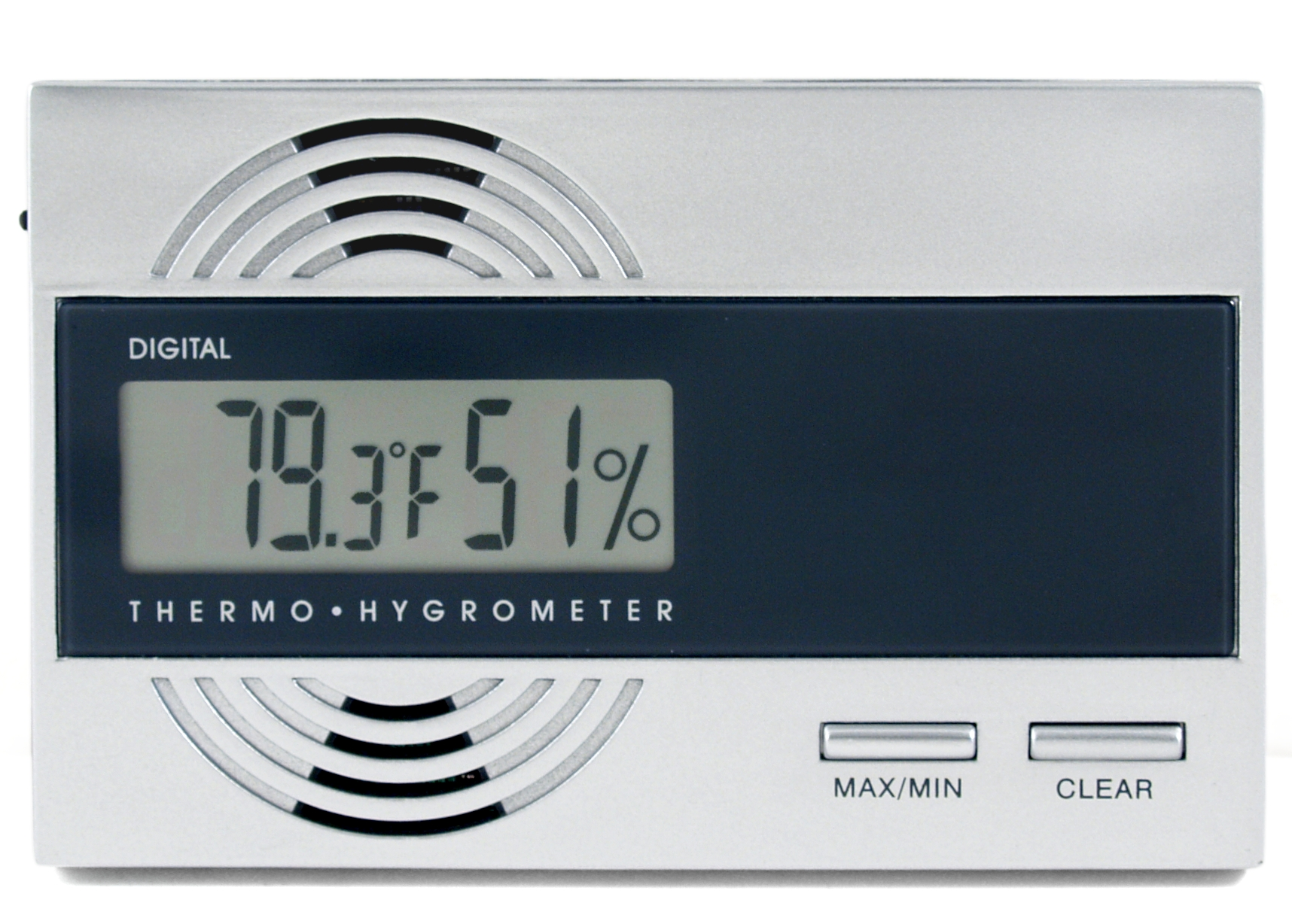 Silver Star Digital Hygrometer with Temp 4 Cigar Humidor