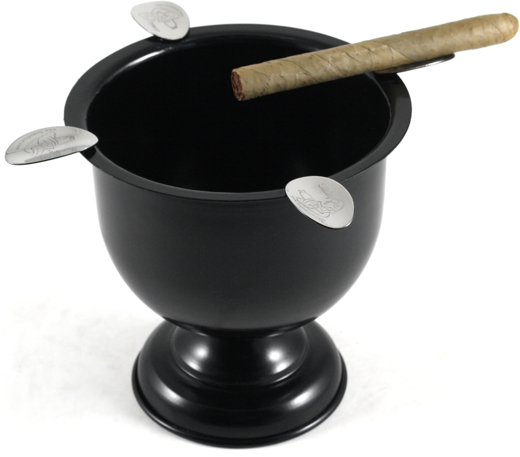 Stinky Cigar Black Goblet Shaped 4 Cigar Ashtray