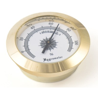 Large Round Analog Hygrometer Humidity Gauge Humidor
