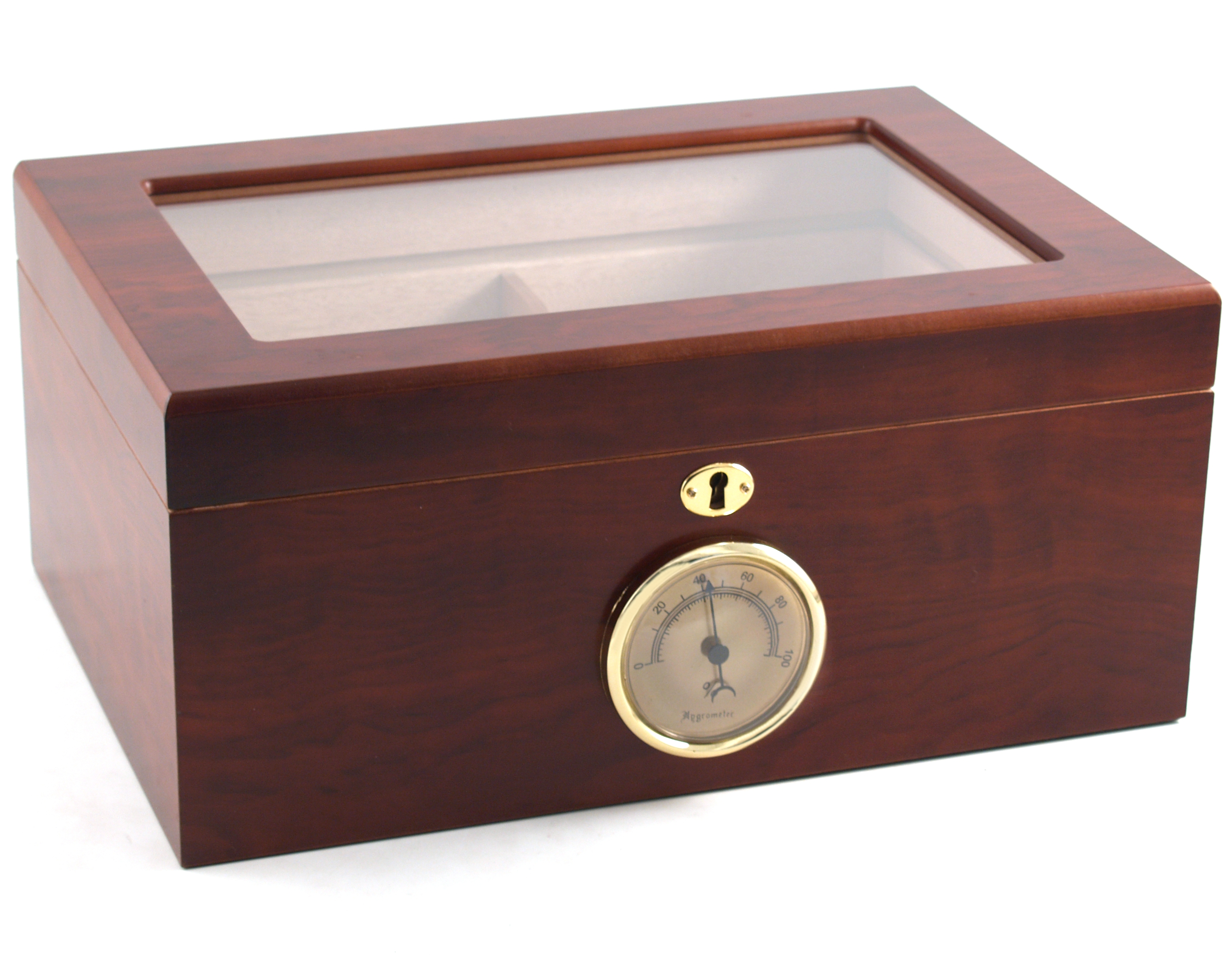 Window Top Huge 100ct Cherry Cigar Humidor