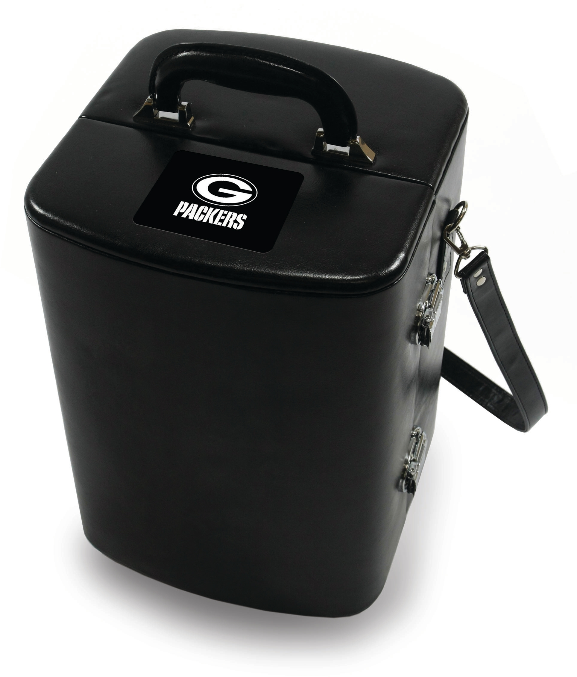 Picnic Time Legacy Black Green Bay Packers Engraved Manhattan Cocktail Case