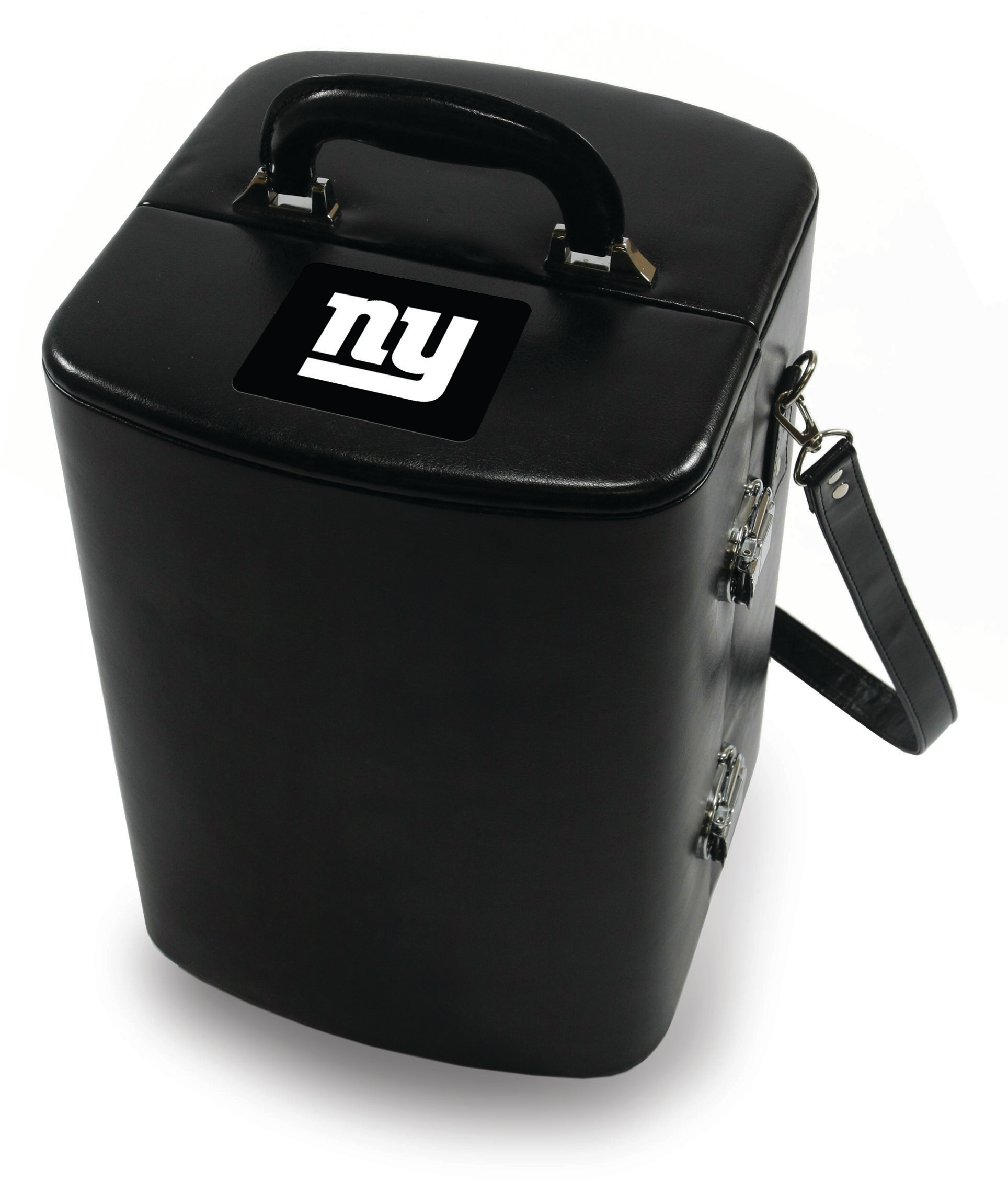 Picnic Time Legacy Black New York Giants Engraved Manhattan Cocktail Case