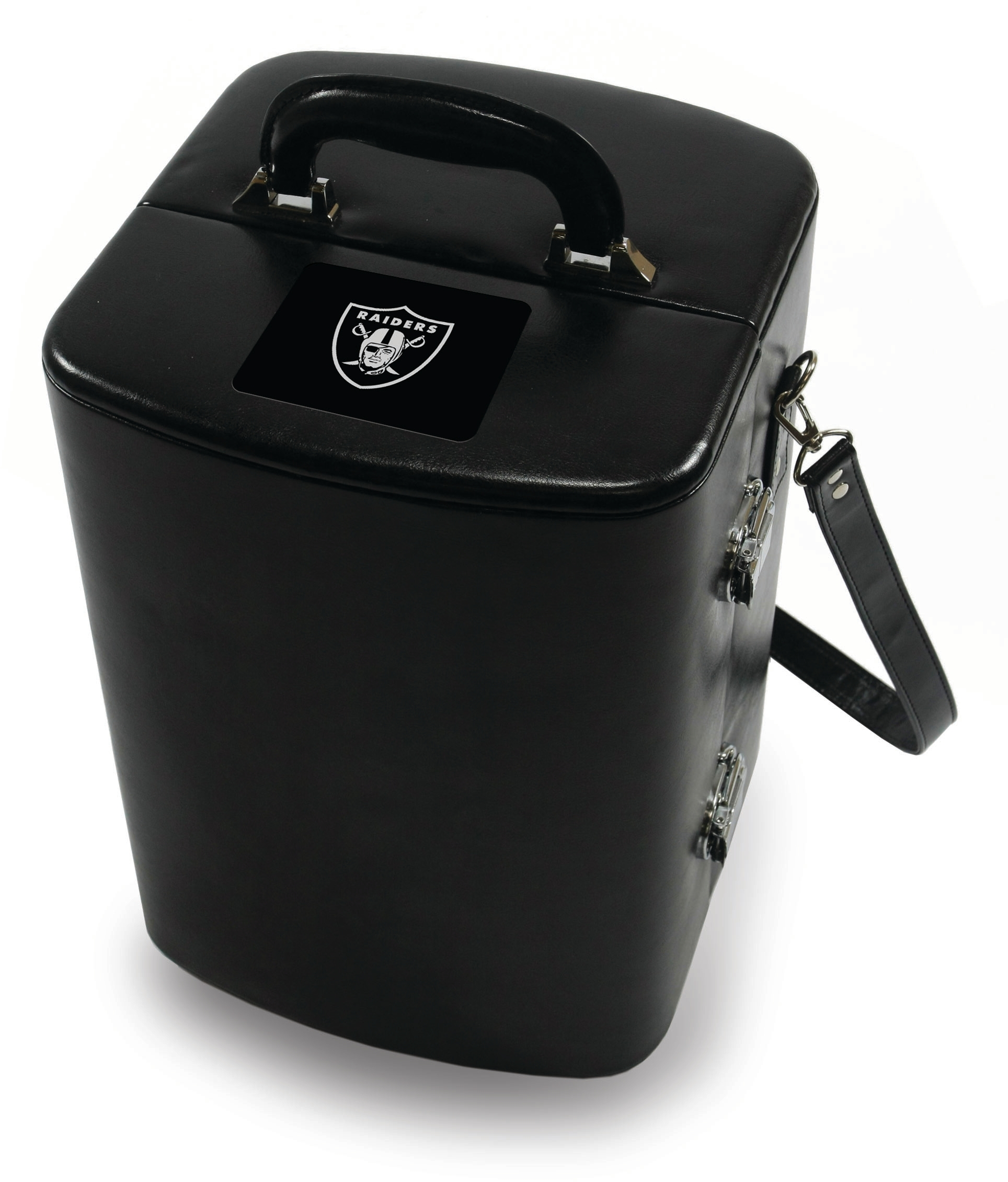 Picnic Time Black Legacy Oakland Raiders Engraved Manhattan Cocktail Case