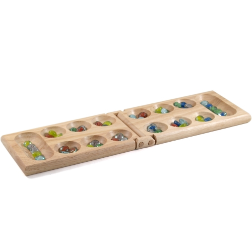 Gatogi Wooden Mancala Folding Game Set