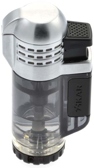 Xikar Tech Black Triple Torch Butane Lighter