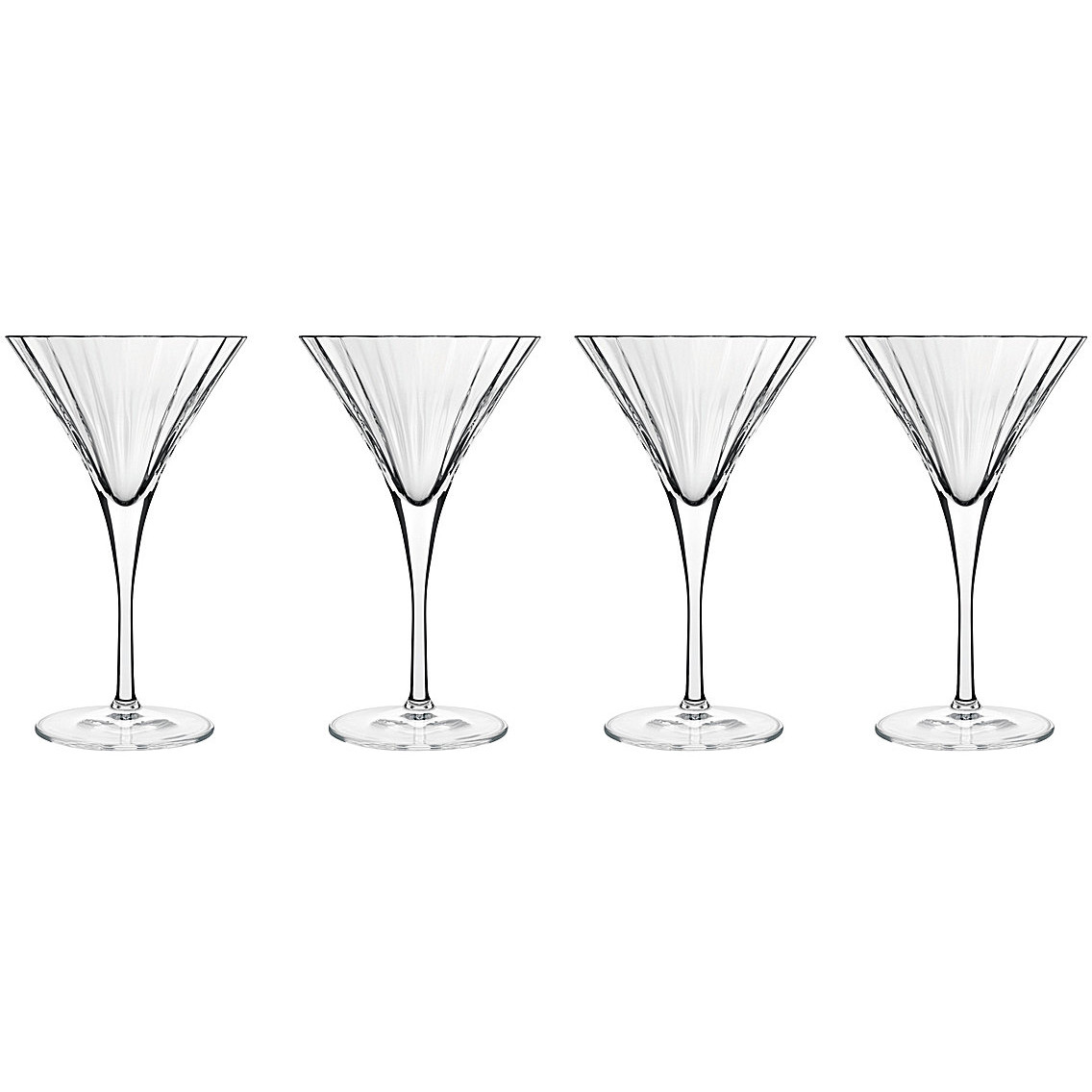 Luigi Bormioli Bach Crystal Martini Glass, Set of 4