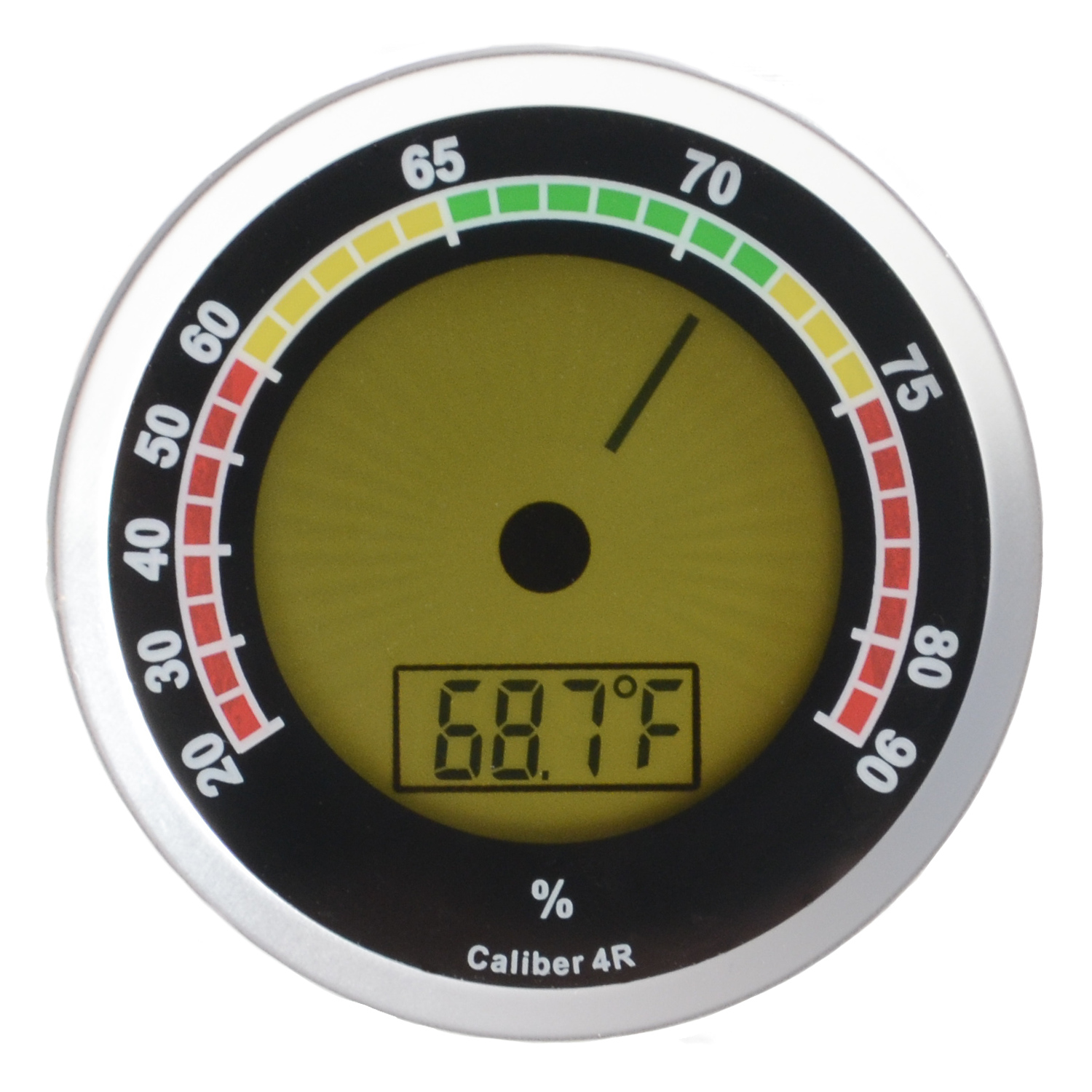 Cigar Oasis Western Humidor Caliber 4R Silver Digital Hygrometer and Thermometer