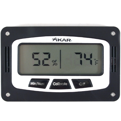 Xikar Slim Rectangular Digital Hygrometer and Thermometer