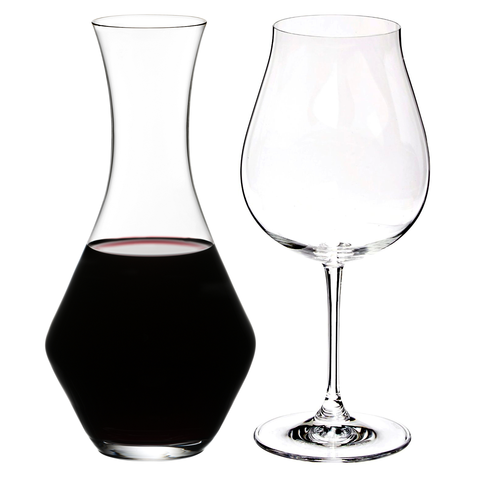 Riedel Vinum XL Leaded Crystal 5 Piece Pinot Noir Wine Glass and Decanter Set