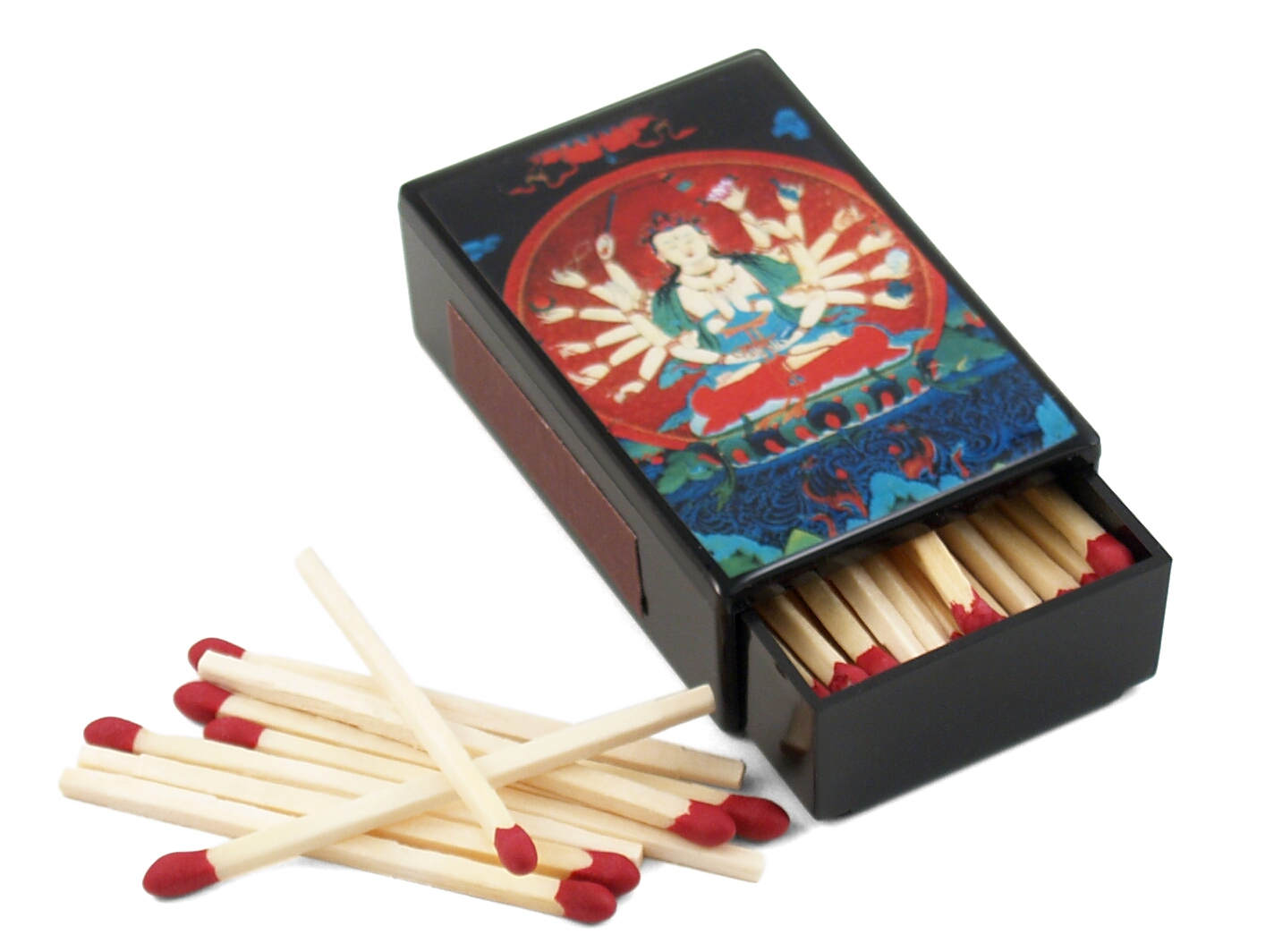 Quan Yin Buddha With 16 Arms Match Box with Matches