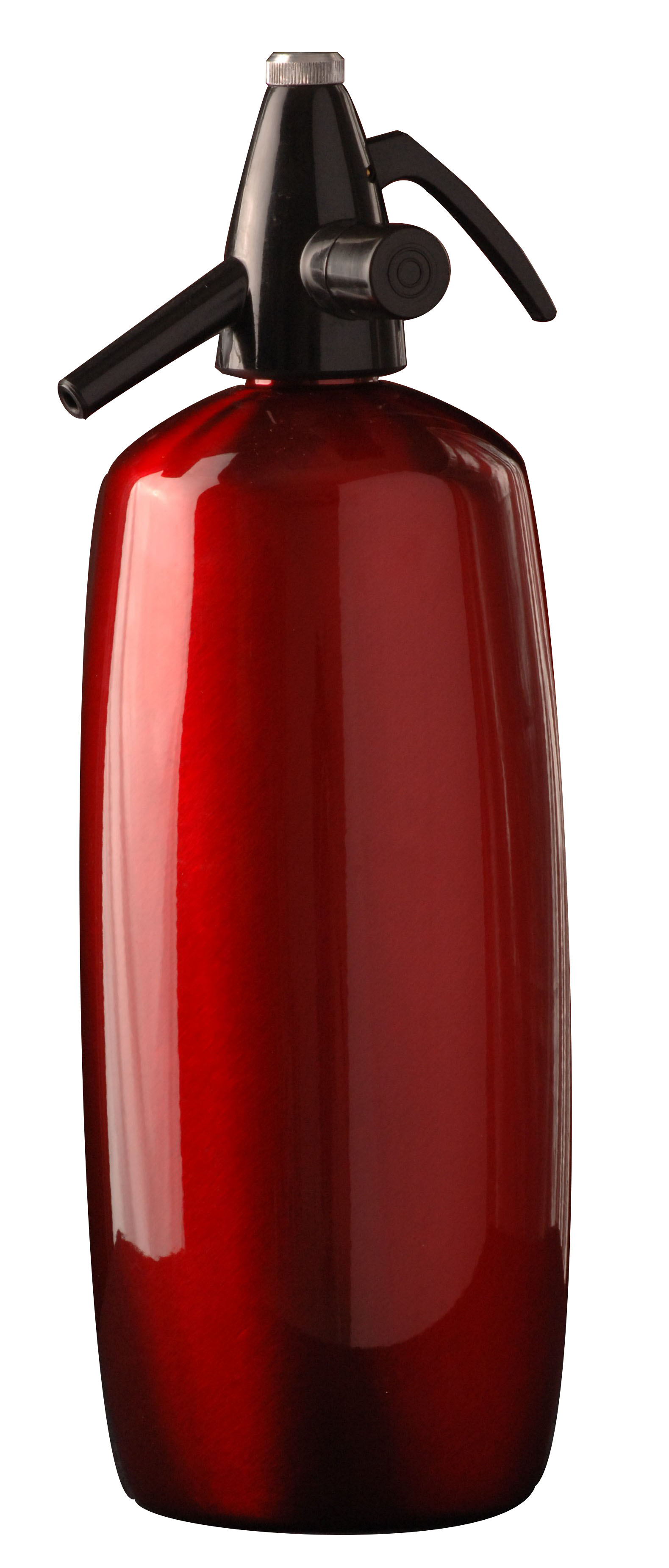 Liss Red Stainless Steel Traditional Soda Siphon, 2 Quart