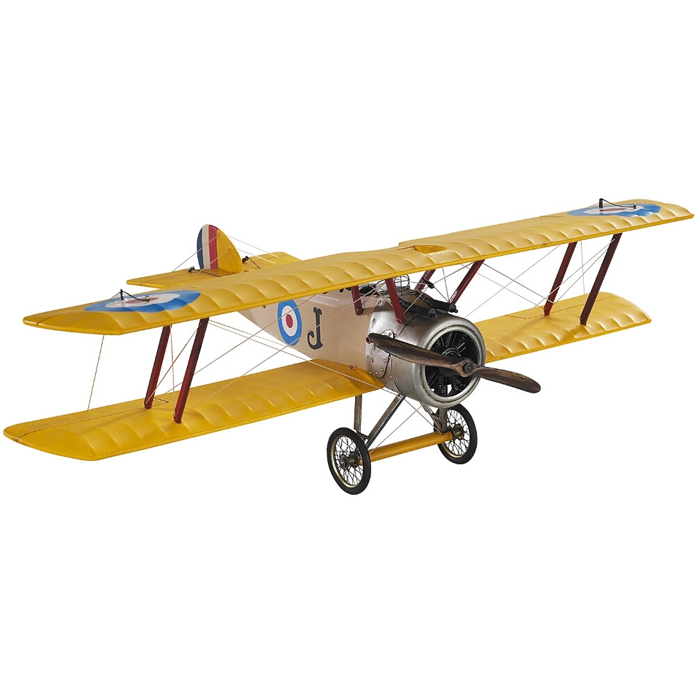 Authentic Models Sopwith Camel Biplane Desktop Airplane Model, Small