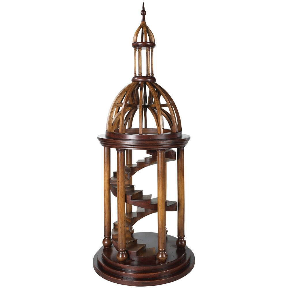Authentic Models Bell Tower Antica Architectural Model in Cherry and Birch Wood