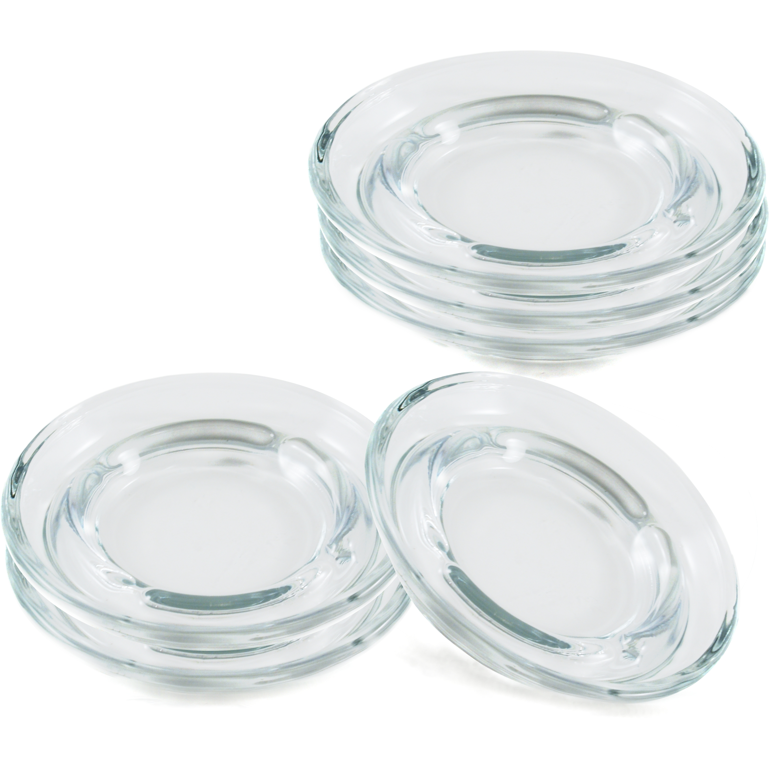 Anchor Hocking Glass Safety Stacking Ashtray, Set of 6