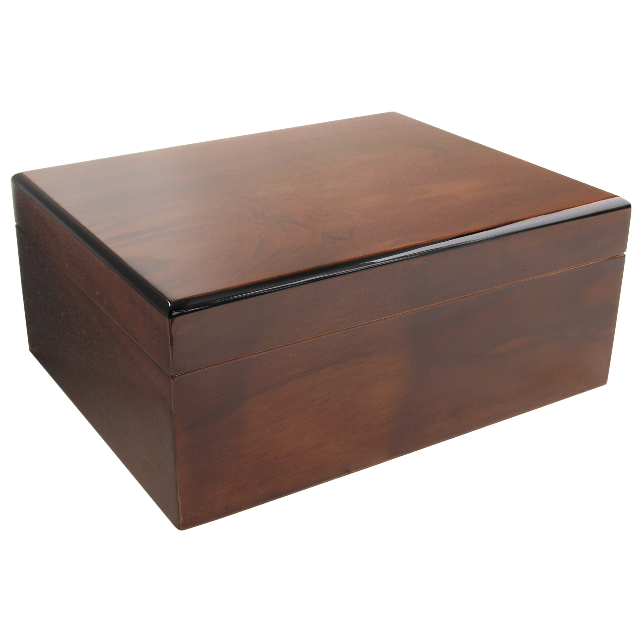 Savoy by Ashton Medium Humidor in Ash Burl, 50 Cigar Capacity