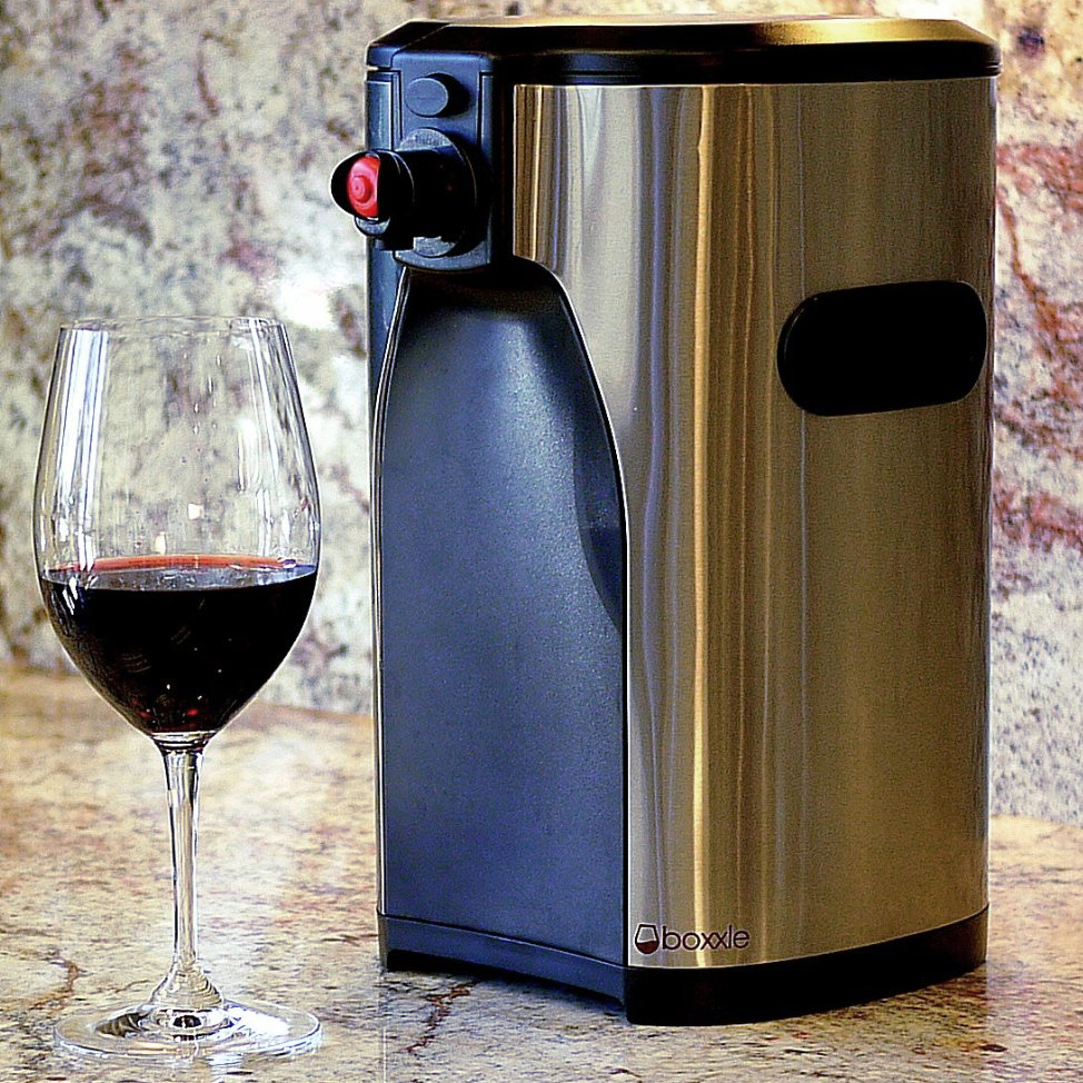 Boxxle Black and Stainless Steel 3 Liter Box Wine Dispenser