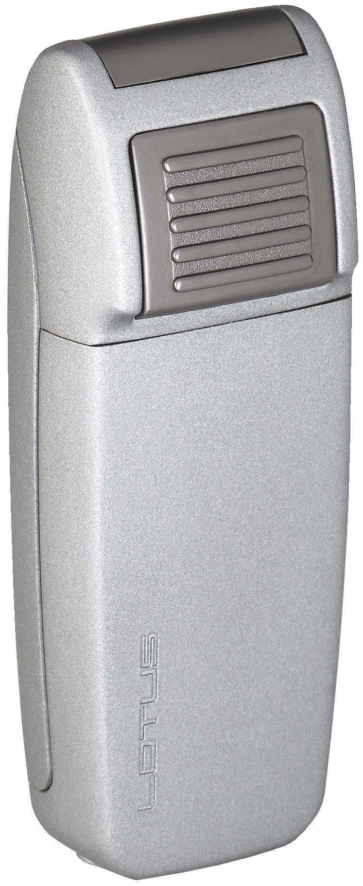 Lotus L34 Retro Double Torch Lighter with Retracable Punch Grey Matte