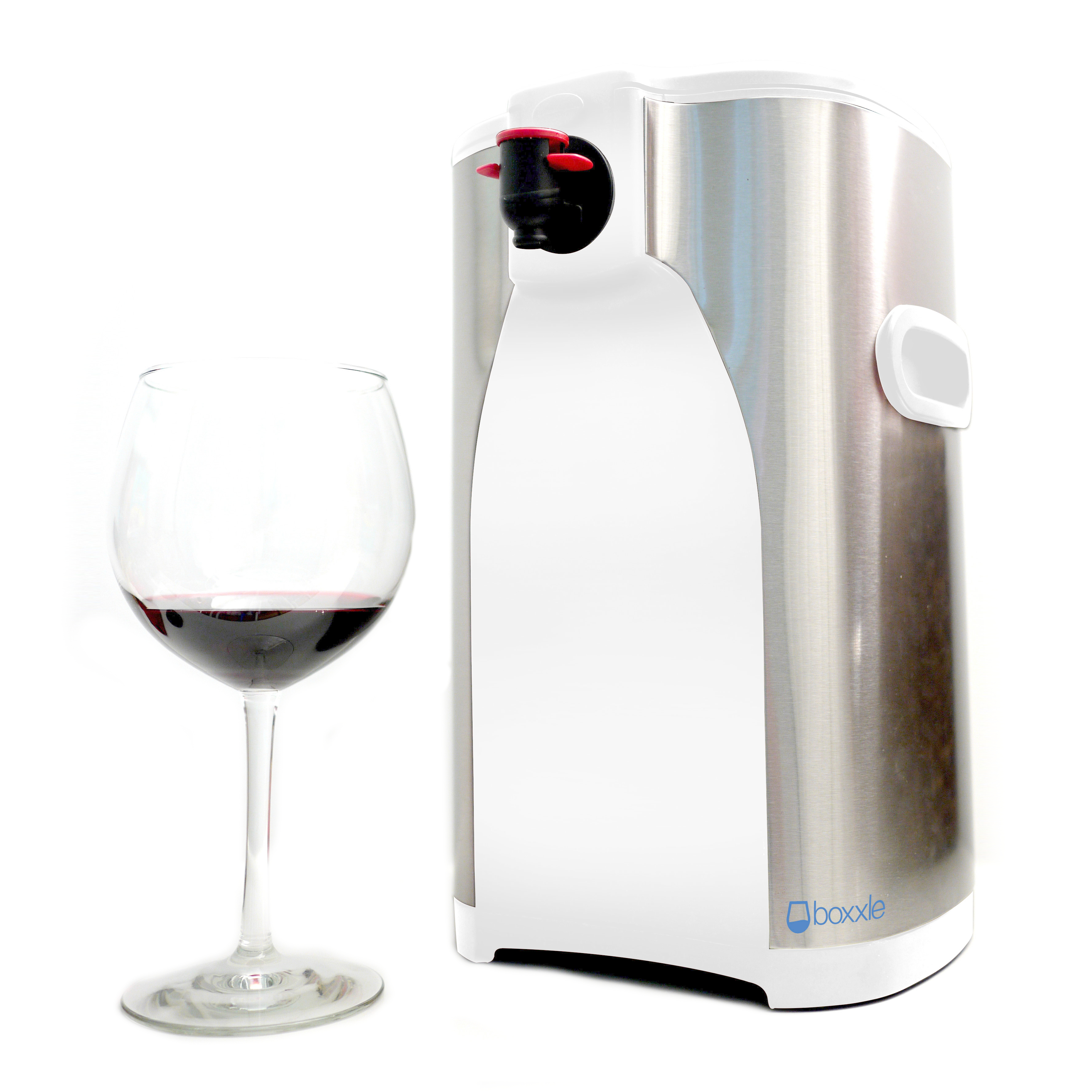 Boxxle Box White and Stainless Steel 3 Liter Box Wine Dispenser
