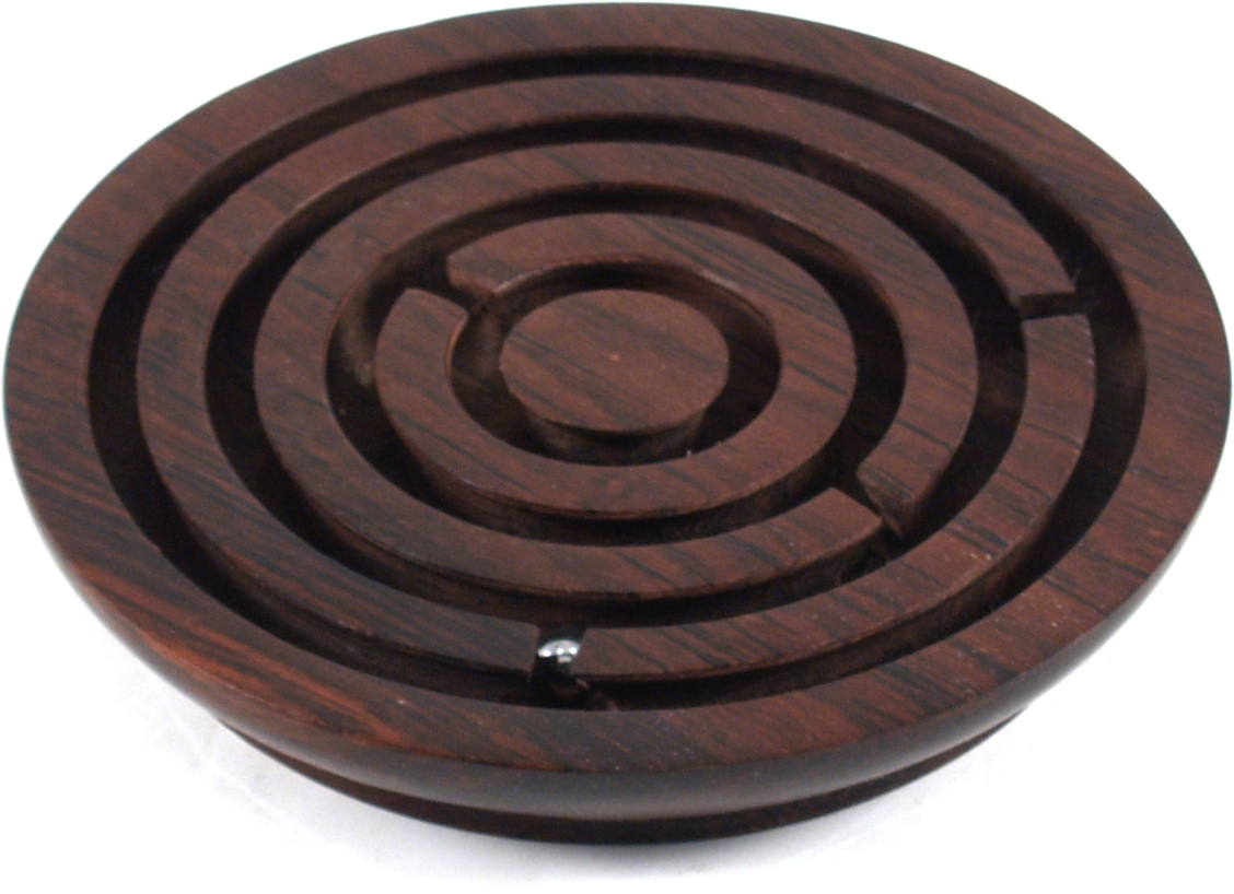 Wood 6 Inch Ball and Maze Game