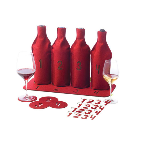 True Fabrications 25 Piece Red Blind Wine Tasting Kit