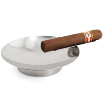 Stainless Steel Large Oval Single Cigar Ashtray